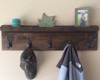 Rustic Wood Coat Rack