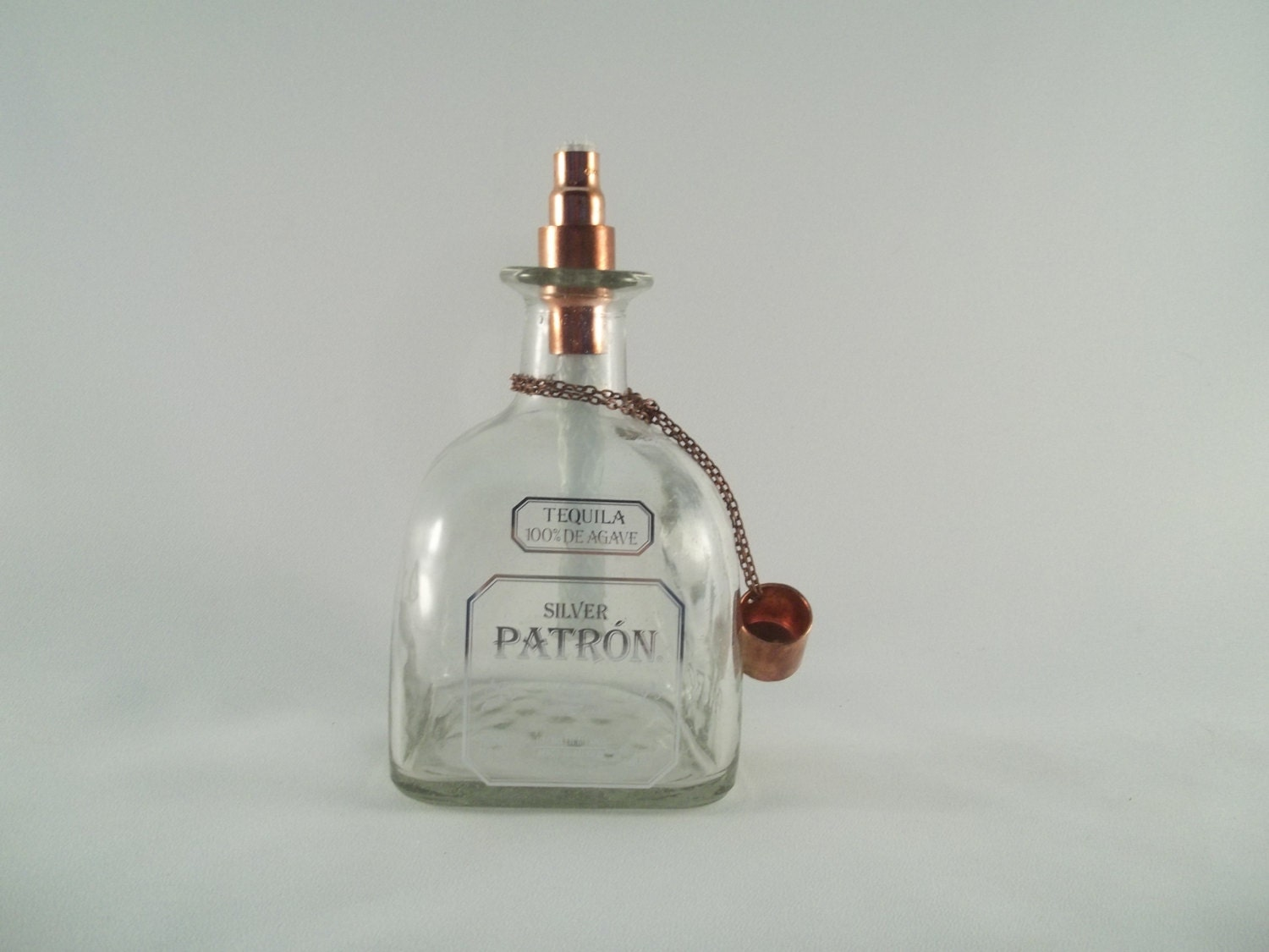 Patron Silver Tequila Tiki Torch Outdoor Oil Lamp Light Bar