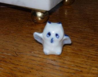 Delft Owl Figurine