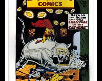 "Vintage Print Ad Comic Book Cover : Detective Comics #311 / Batman #154 Robin Illustration Dbl Sided Wall Art Decor 8"" x 10 3/4"""