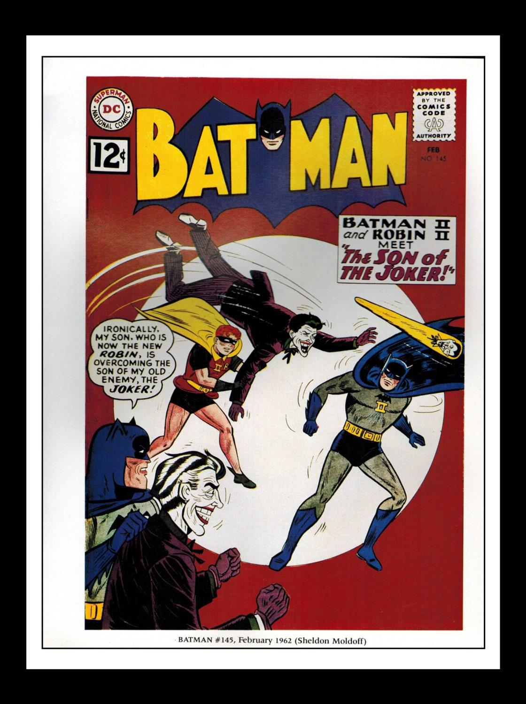 Vintage Comic Book Cover : Vintage print ad comic book cover batman joker