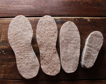 Shoe-sole made of alpaca felt in Quebec
