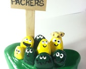 GO PACKERS-Original Team Painted Rock-CUSTOM Teams Available-Painted Stones Cheeseheads-Your School Colors-Painted Pebbles-Any Team Colors