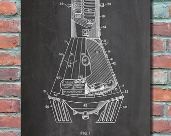 Blueprint Wall Art nasa blueprint | etsy