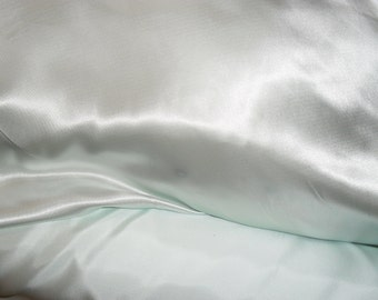 """NOW ON SALE!!!  Mint Green Charmeuse Satin Fabric 60"""" wide By the Yard for wedding dresses, decorations, drapes, crafts"""