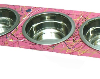 Ergonomic Pet Feeder, A healthy and stylish feeder for small dogs and cats.