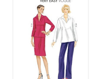 Vogue Very Easy sewing pattern V8935 Pullover Top, Skirt and Pants, Misses', Women's, Teen Girl's, + Plus Size - new and uncut