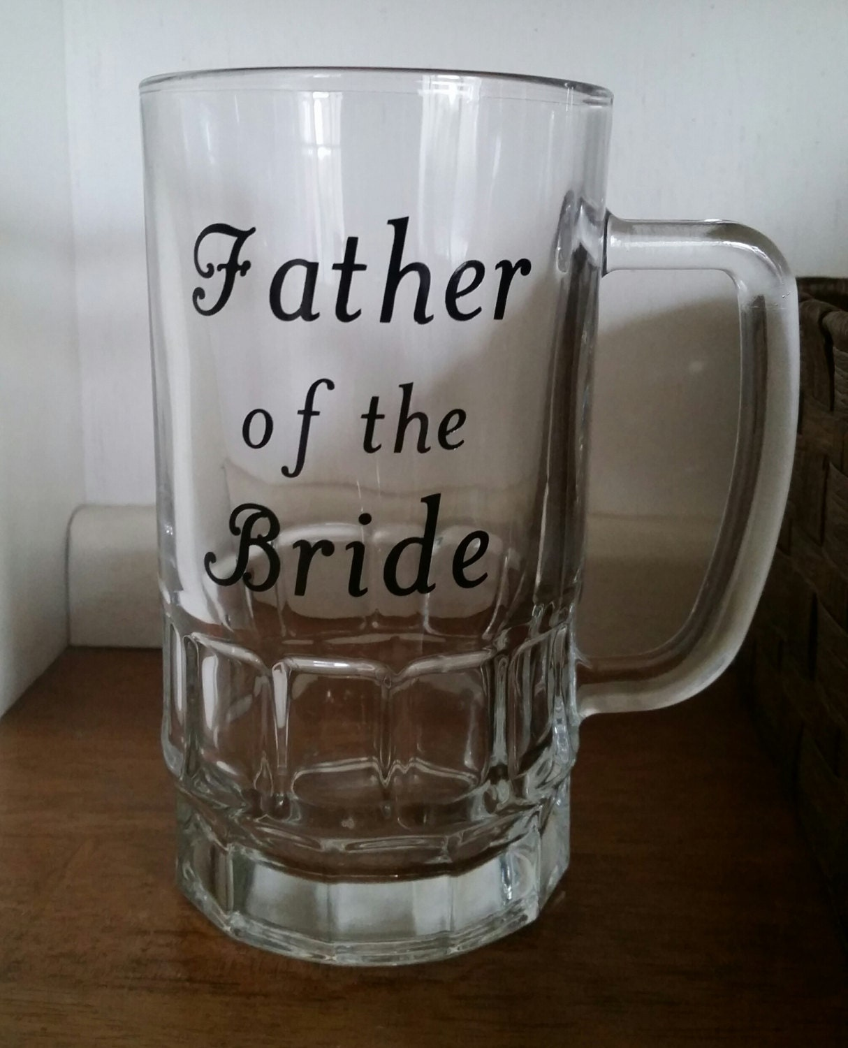 Father Of The Bride Gifts: Father Of The Bride Beer Mug Father Of The Bride Gift