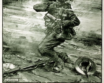 WA27 Vintage WWI Chemical Warfare Gas Mask Safety World War 1 Poster Re-Print Wall Decor A1/A2/A3/A4
