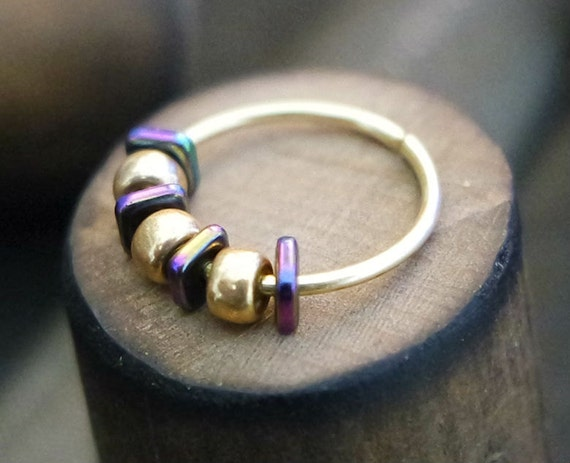 hoop nose rings with gold gold unique nose ring