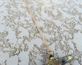 Gold Tipsy Nugget Necklace