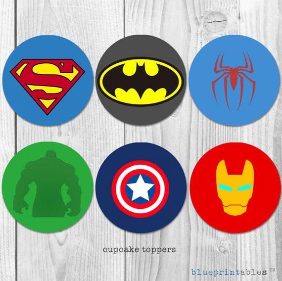 Spiderman Hulk Captain America Iron Man Logos DIY Printable