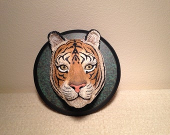 Bengal Tiger Head on a Plaque
