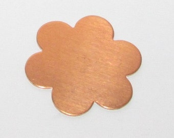 6 Petal Flower Copper Blank (5)