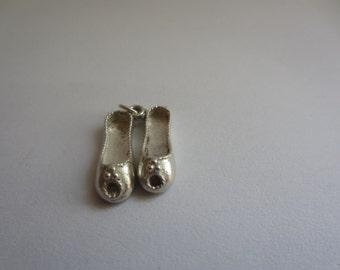 Vintage silver slipper charm