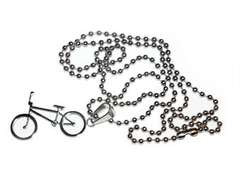 Magnolia BMX Bike Stainless Steel Necklace