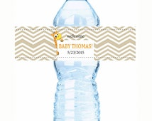 """Born to be Wild Animal Baby Shower Water Bottle Labels  - Select the quantity you need below in the """"Pricing & Quantity"""" option tab"""
