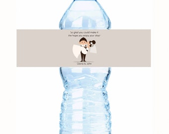 Wedding Water Bottle Labels - Groom Carrying Bride Newlywed - Wedding Decor - Custom Labels - Water Bottle Wraps - Bottle Stickers