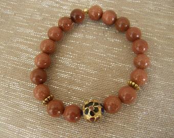 Vintage Style Goldstone Bracelet