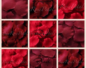 500 Red Rose Petals- Silk Rose Petals
