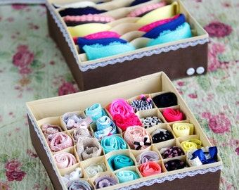 30 cell Panties socks underwear 7 cell bra drawer closet organizer storage box bin houseware