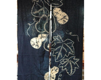"traditional cotton noren, door way curtain. (AA85) 35""W x 59""L"