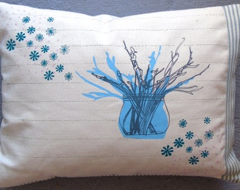 Beautiful hand screen printed cushion cover