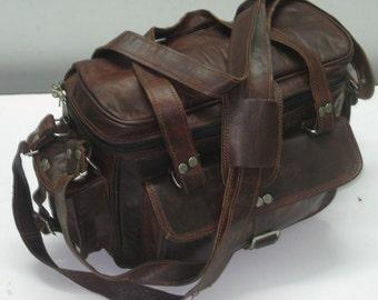 Distressed  Leather Camera case Camera satchel camera bag Travel camera case