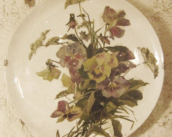 pair of antique plates decorated wall