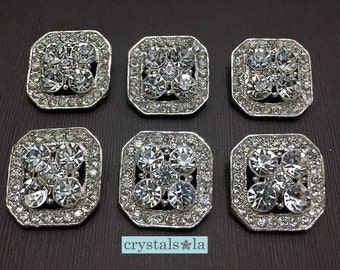 Crystal Buttons - BT75 - 6pcs