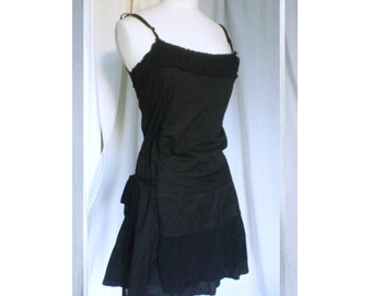 Black tulle and cotton dress