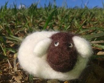 Sheep Brooch - Lamb Brooch - Felted Brooch - Wool Felted Brooch - Merino Wool Felted Brooch - Wool Felted Sheep - Wool Felted Lamb Brooch