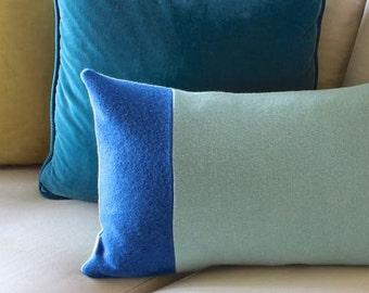 Colour Block Wool Pillow