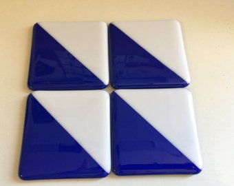 Fused Glass Coasters (set of 4)