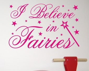 I Believe in Fairies - Children's wall sticker by Createworks WA250X