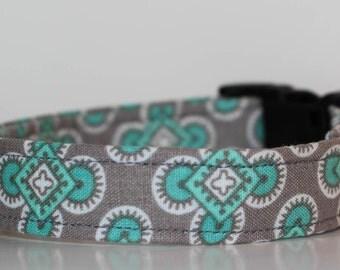 Geometric dog collar- chic dog collar- unique dog collar- modern dog collar- boy dog collar- adjustable collar -colorful dog collar
