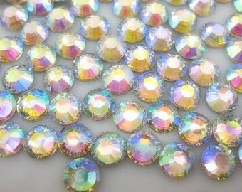 1000 5mm Clear Ab Flatback resin Rhinestones ss20