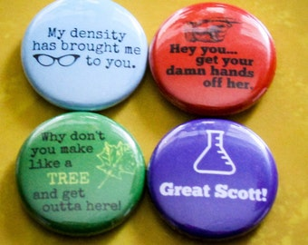 "Back to the Future Set of 4 - 1"" Pinback Buttons"