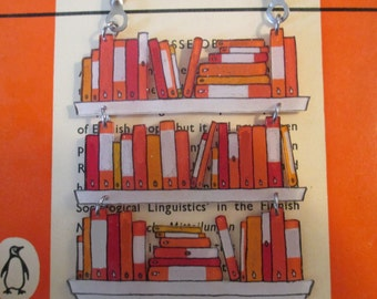 Custom Book Necklace: Penguin Books, 3-Tiered [Book Jewelry Pendant Literature Statement Author Library Librarian Bookstore Books]