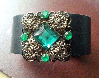 Green Filigree Cuff