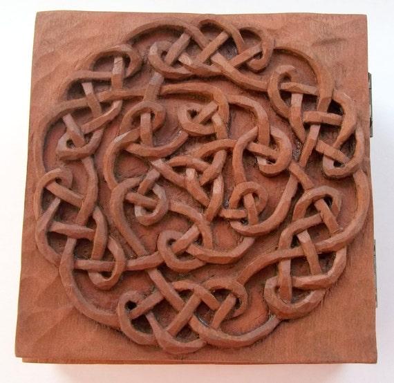 Conosciuto Celtico scatola legno intaglio scultura in legno fatti a GS93