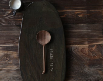 hand carved teaspoon / wooden teaspoon