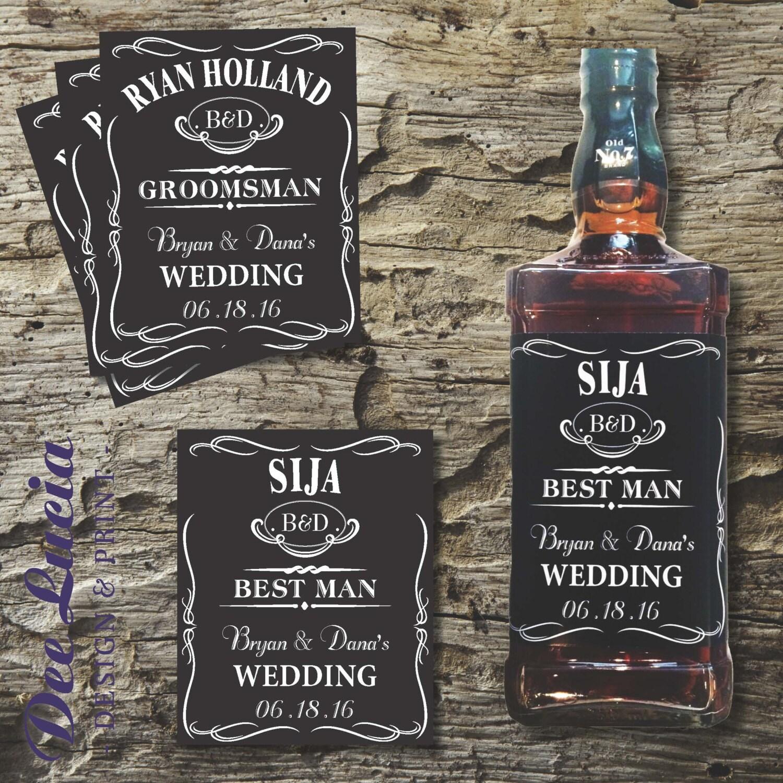 Custom Jack Daniels Bottle Labels For