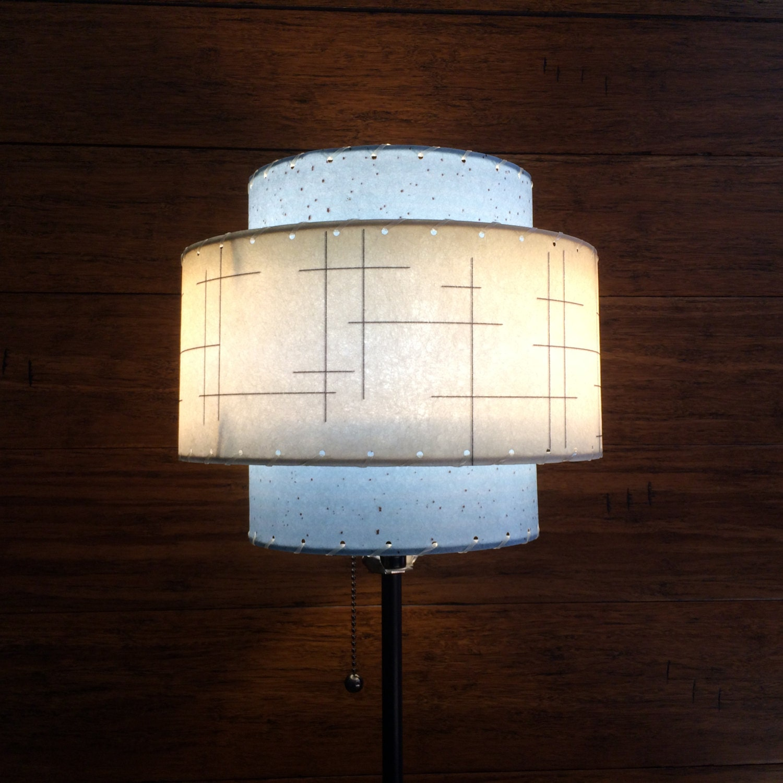 mid century modern style fiberglass lamp shade by modilumi. Black Bedroom Furniture Sets. Home Design Ideas