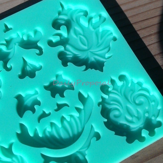 Vintage Flower Antique Chandelier Silicone Embossing Mold ...
