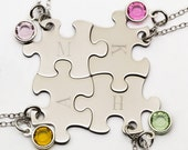 Best Friend Puzzle Piece Necklace | Personalized Best Friend Gift | Engraved Jewelry | Gift For Best Friend | Bridesmaid Gift | Puzzle Piece