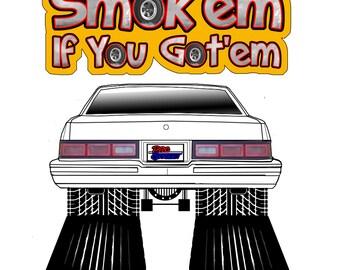 Smok'em if you Got'em T-Shirts 1978 Chevy Malibu