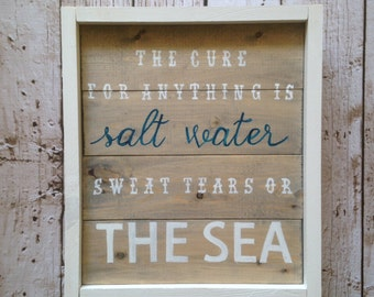 The Sea Wooden Sign
