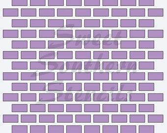 Brick Cookie Stencil