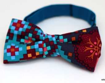 Bow 20.  Mosaic/ Mosaïque/Mosaico. Handmade bowtie made with high quality printed fabric.